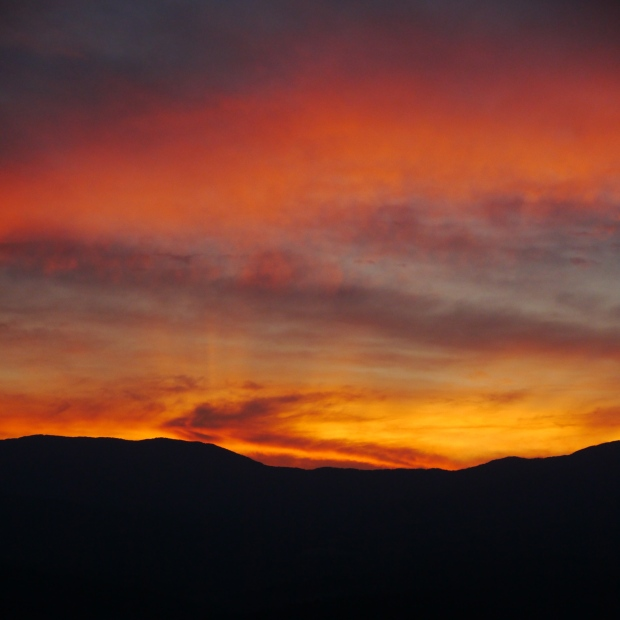 Sunset over the Worcester Range