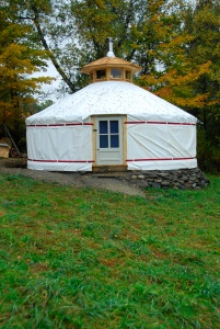 My yurt home now