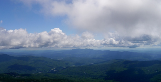 View of the Worcester Range from the summit of Camel's Hump